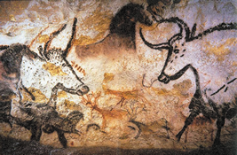 Aurochs in Lascaux painting