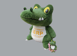 Osaka University official mascot Dr. crocodile