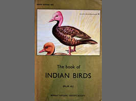 Pink-headed duck on the book cover 〝INDIAN BIRDS″