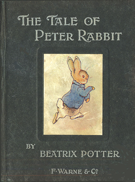 "The first edition book of ""Peter Rabbit"" by  Beatrix Potter"
